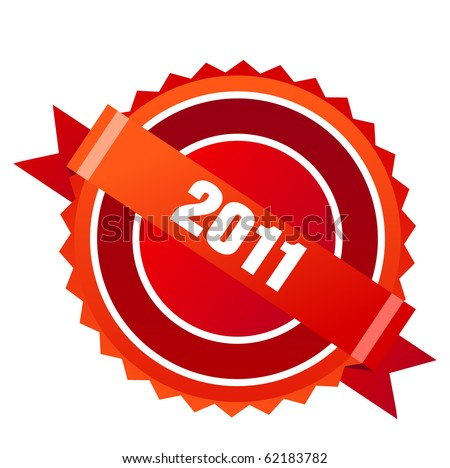 Red New Year 2011 label