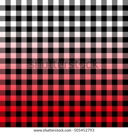 red ombre buffalo check plaid