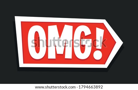 Red OMG Sign Icon, Gaming video thumbnail Icon Zdjęcia stock ©