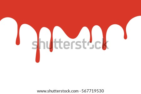 red paint drips bloody ink