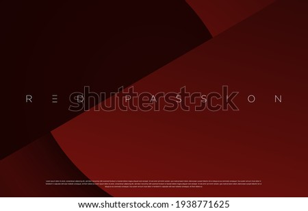 Red Passion abstract geometric background design. For cover design, book design, presentation template, website, poster, flyer, advertising, brochure, brand identity etc. Vector EPS 10