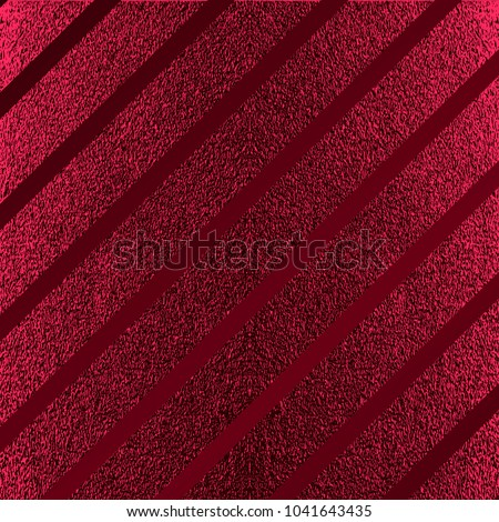 Red pattern. Abstract crimson background. Maroon vector illustration. Scarlet glitter stripes. Dark red foil texture. Luxury pattern.