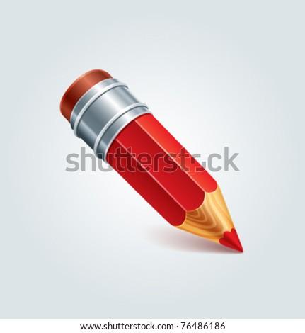 Red Pencil (vector)