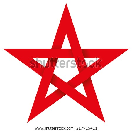 red pentagram 3d   five pointed