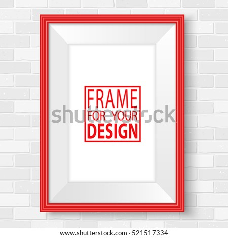 red picture frames realistic