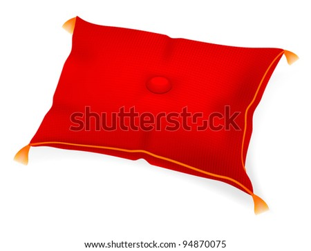red pillow for an award or gift