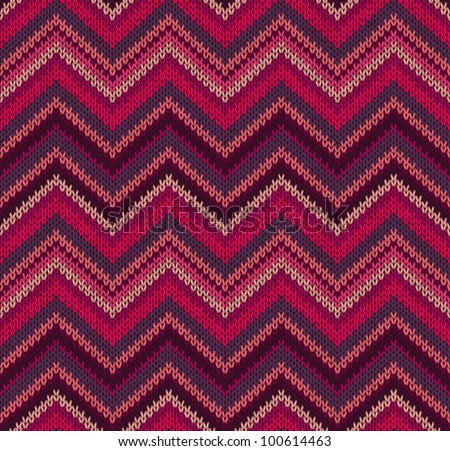 Red Pink Knit Texture , Beautiful Knitted Fabric Pattern