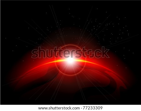 red planet in the depths of