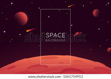 red planet landscape vector