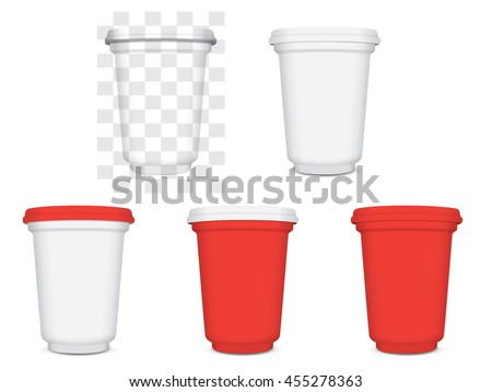 red plastic cup for your design