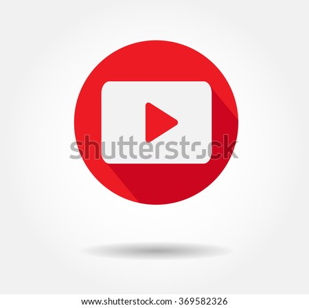 red play button vector  jpg