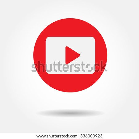 Red Play Vector Logo, JPG, JPEG, EPS Icon Button.youtube Flat Social Media Background Sign Download