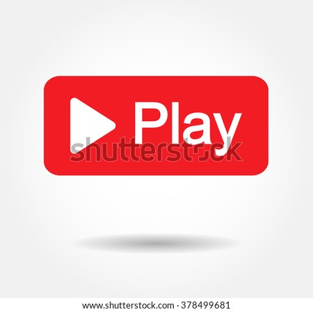 Red Play Vector Logo, Jpg, Jpeg, Eps Icon Button.Youtube Flat Social Media Background Sign ...