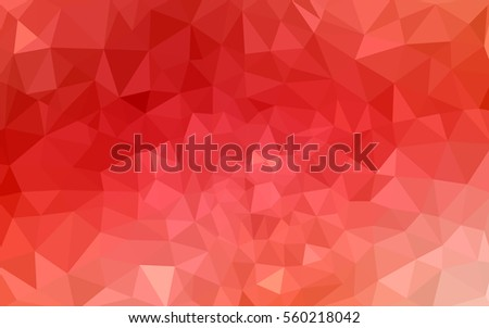 red polygonal illustration