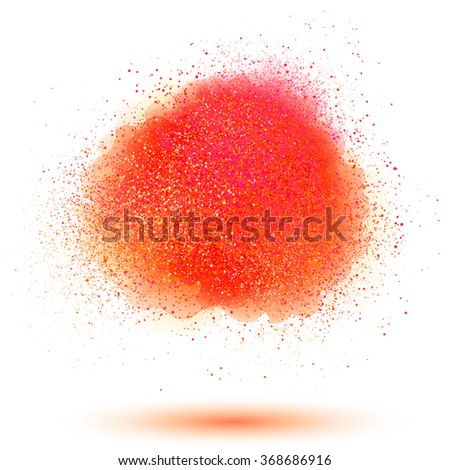 red powder vector cloud