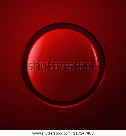 Red power button Vector illustration