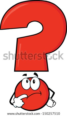 red question mark character