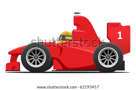 red race car without ad
