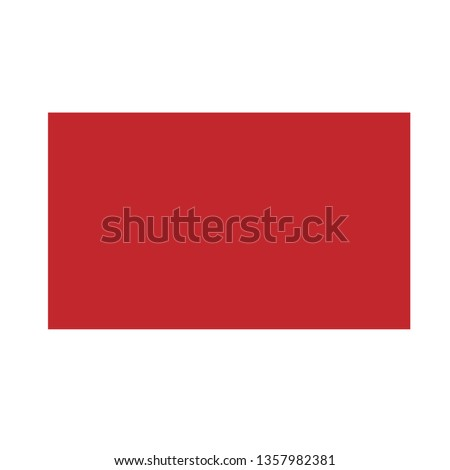 red rectangle basic simple shapes isolated on white background, geometric rectangle icon, 2d shape symbol rectangle, clip art geometric rectangle shape for kids learning