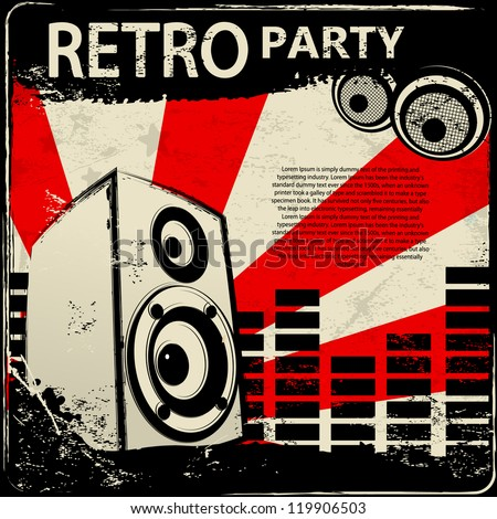 Red Retro Party flyer