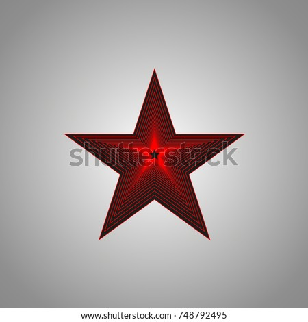 red revolutionary star on a