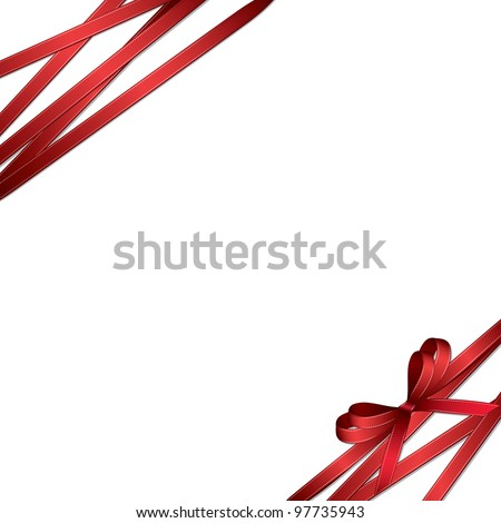 red ribbon and bow background (also available jpeg version)
