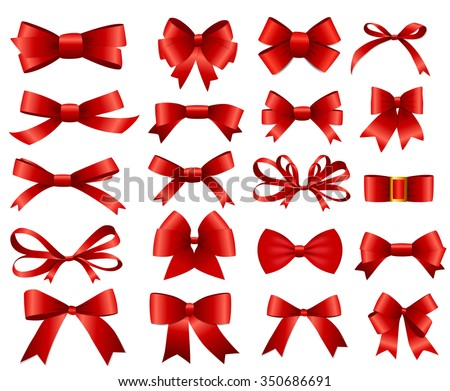 red ribbon and bow set for your