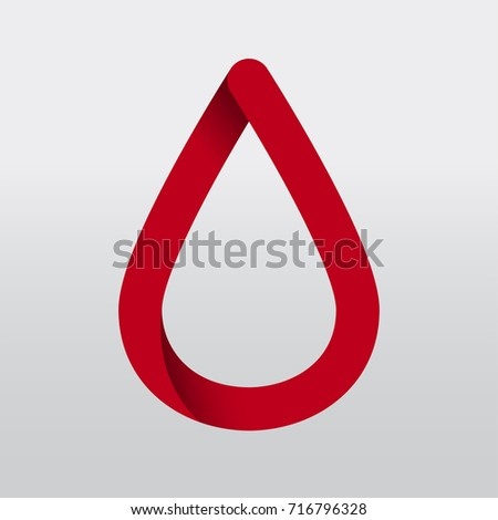 red ribbon blood donation save