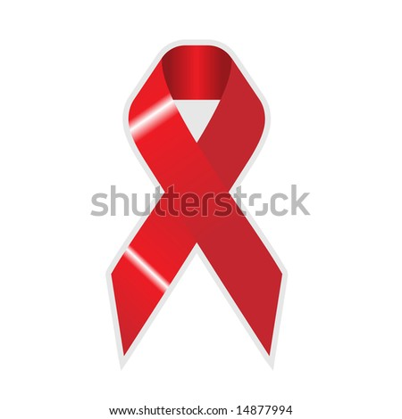 red and white wallpaper. stock vector : red ribbon