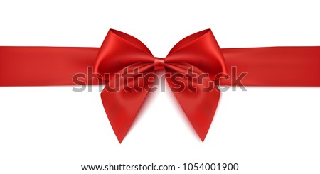 red ribbon gift decoration