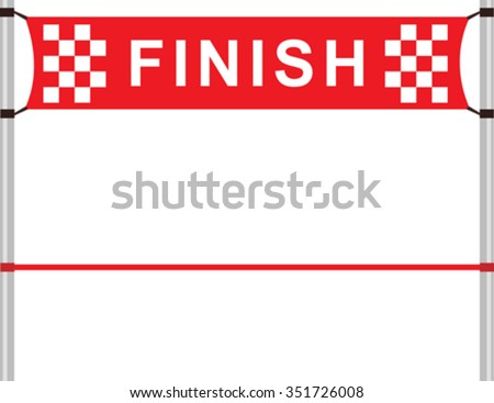 Red ribbon in finishing line Stock photo ©