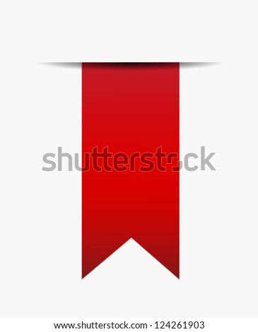 Red ribbon out of white paper