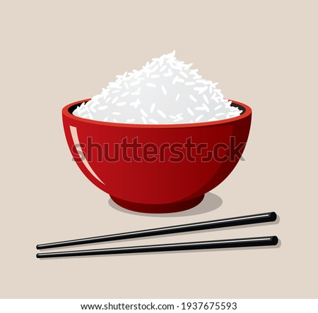 red rice bowl and black