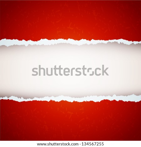 red ripped paper