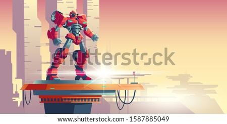 red robot transformer standing