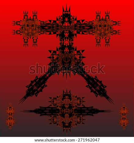 red robots vector set