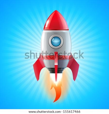 Red Rocket Icon Porthole Window...