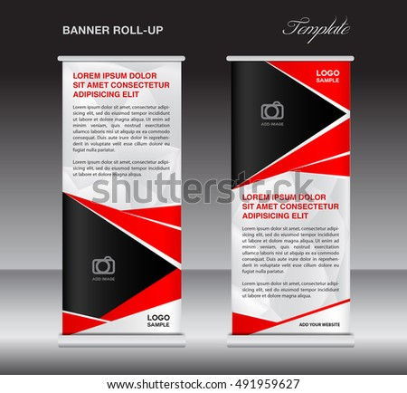 red roll up banner template stand template stand design banner