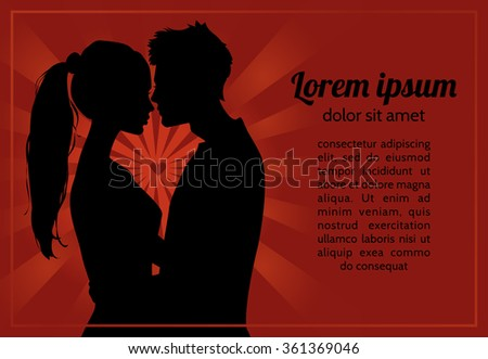 red romantic background with