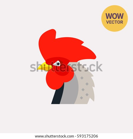 Red Rooster Head Icon