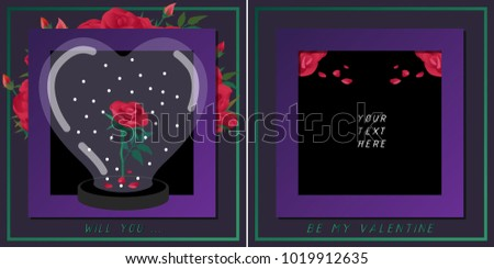 red roses under the heart shape