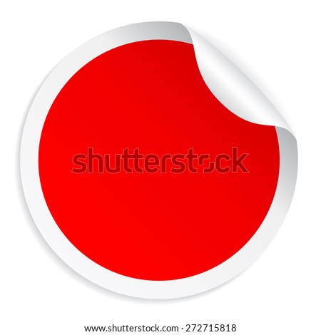 Red round sticker #272715818