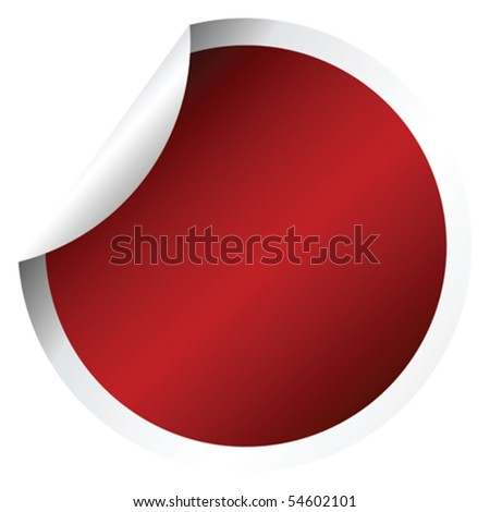 Red round sticker #54602101