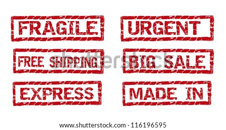 red rubber stamp isolated over white background. vector illustration