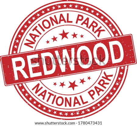 red rubber stamp redwood