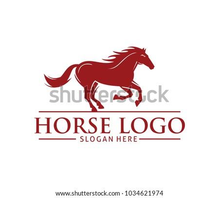 red running race horse vector