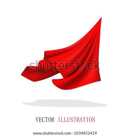 red satin fabric flying....