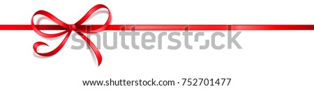 red satin ribbon on white background #752701477