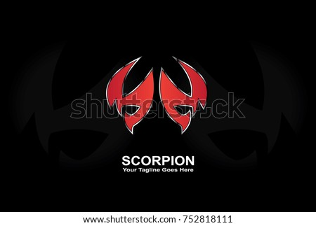 red scorpion logo  modern and