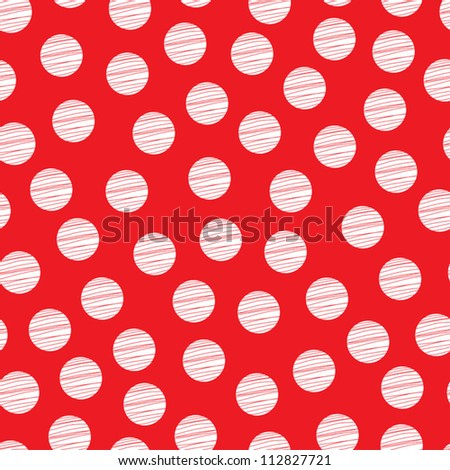 Red seamless pattern, polka dot fabric, wallpaper, vector. Seamless pattern can be used for wallpaper, pattern fills, web page background, surface textures.